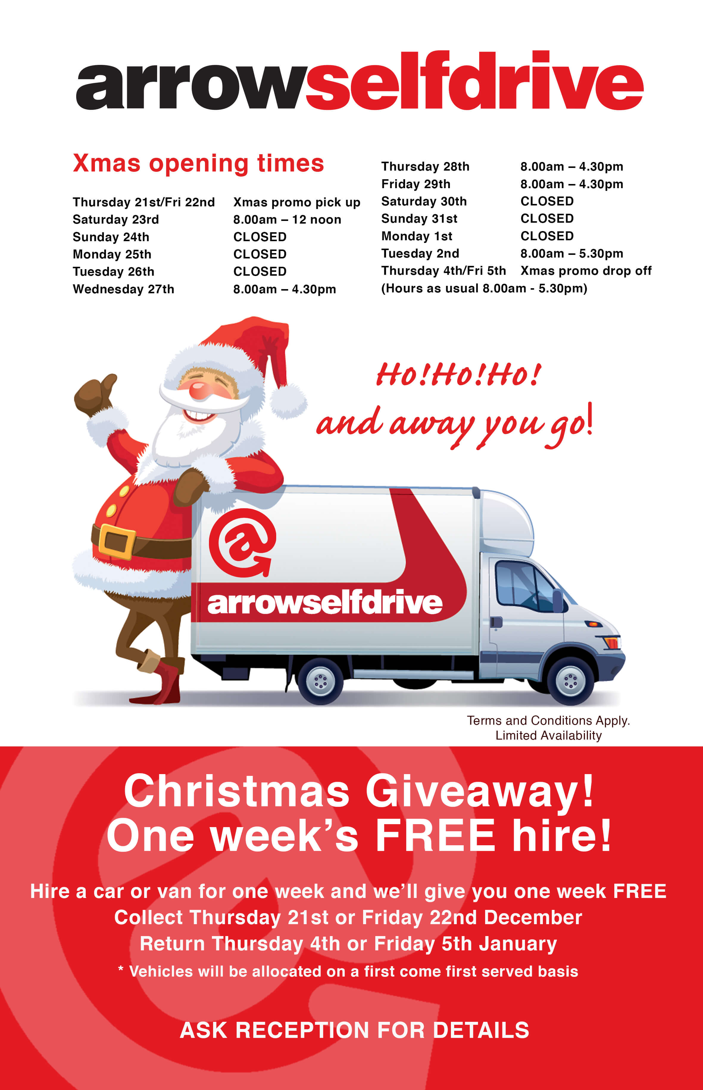 Arrow Self Drive latest offers, Yorkshire's Biggest ...