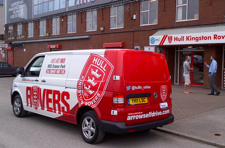 Hull Kingston Rovers Team Up With Arrow Self Drive