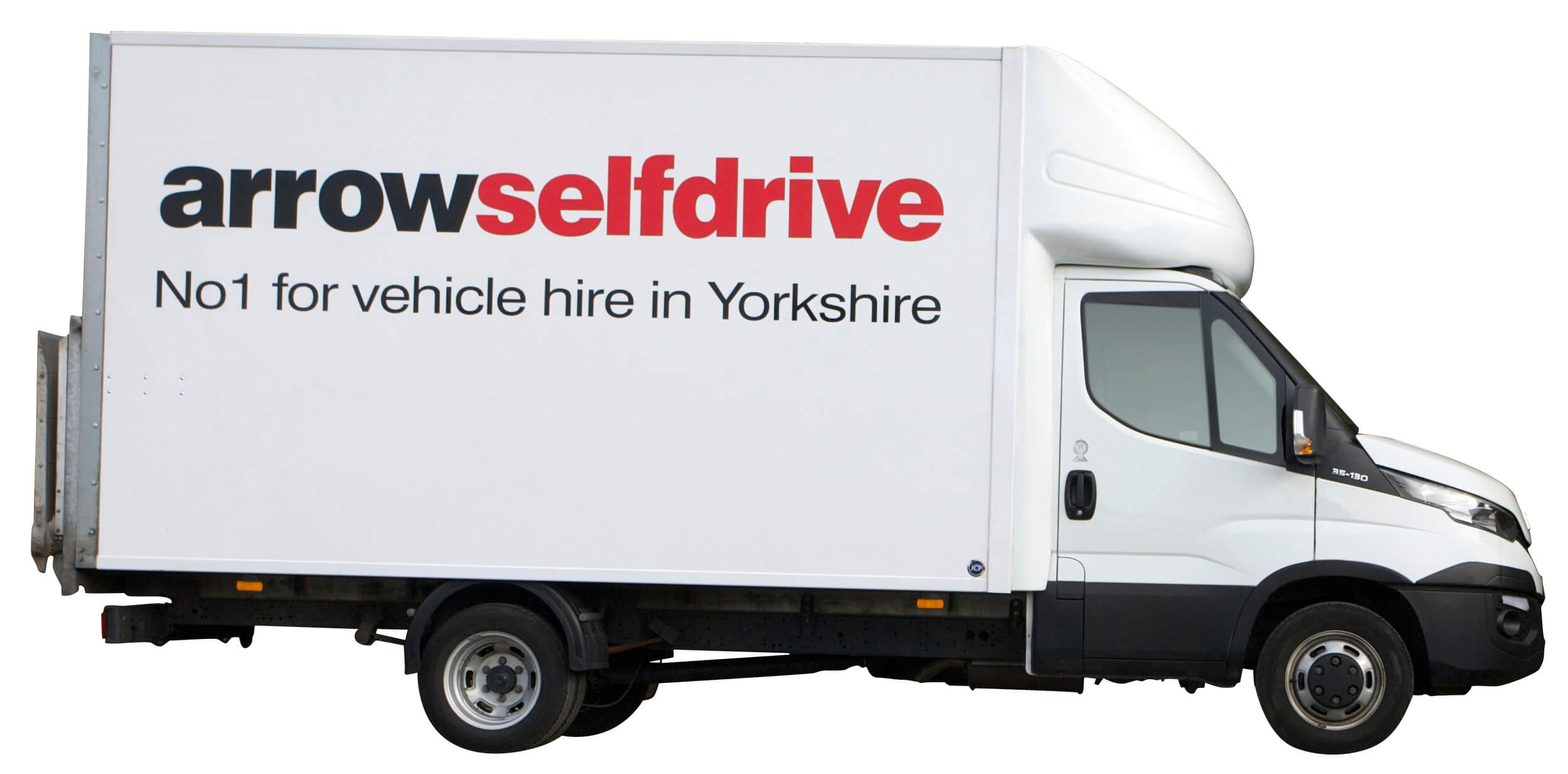 3 5 tonne luton van with taillift hire yorkshire arrow. Black Bedroom Furniture Sets. Home Design Ideas